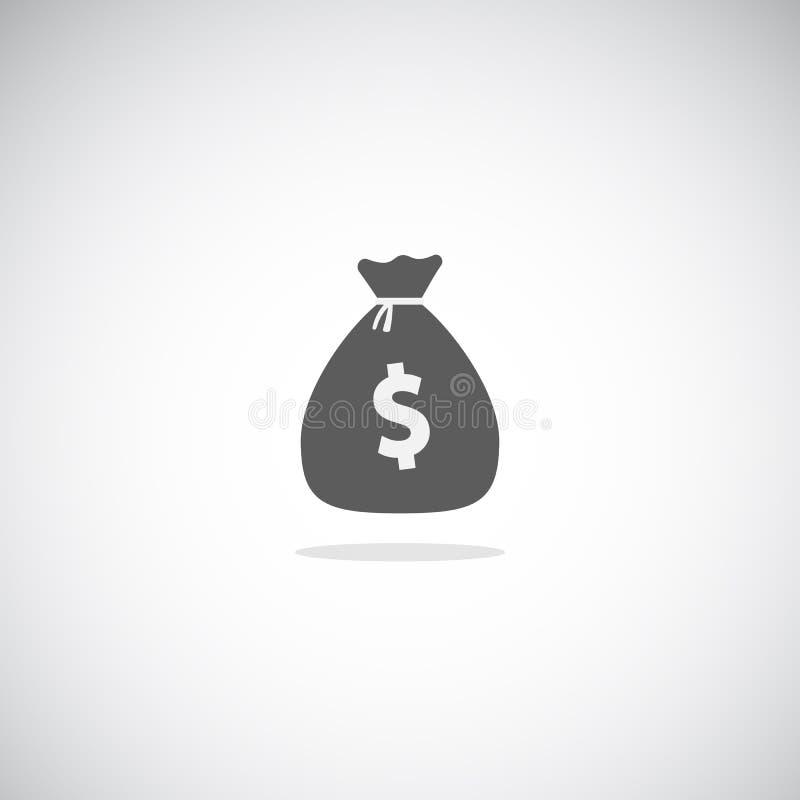Полный значок moneybag иллюстрация вектора
