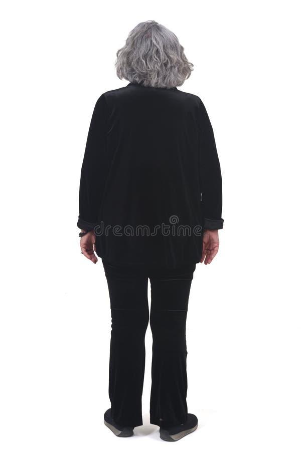 Полный портрет женщины от позади стоковые фото