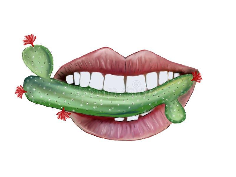 Полный рот кактуса стоковые изображения rf