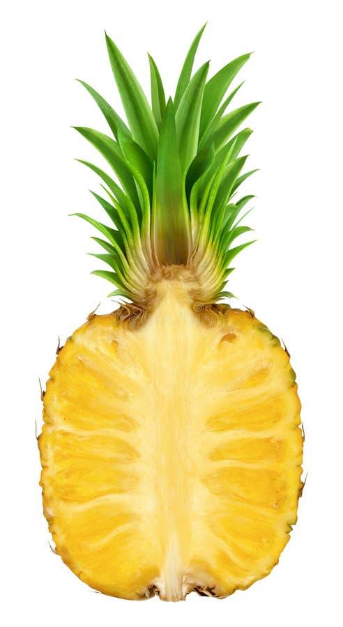 Половина ананаса изолированная на белой предпосылке стоковое фото