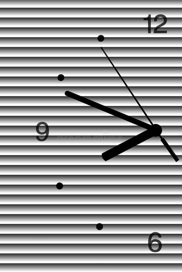 Половина большой шкалы часа иллюстрация вектора