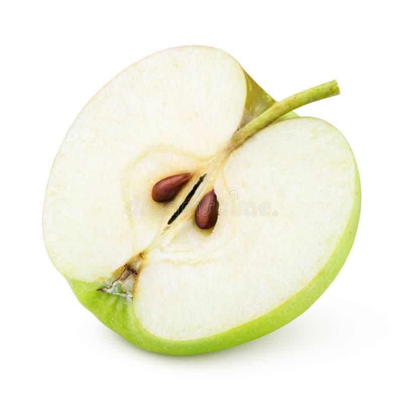 Половина зеленого плодоовощ яблока стоковое изображение rf