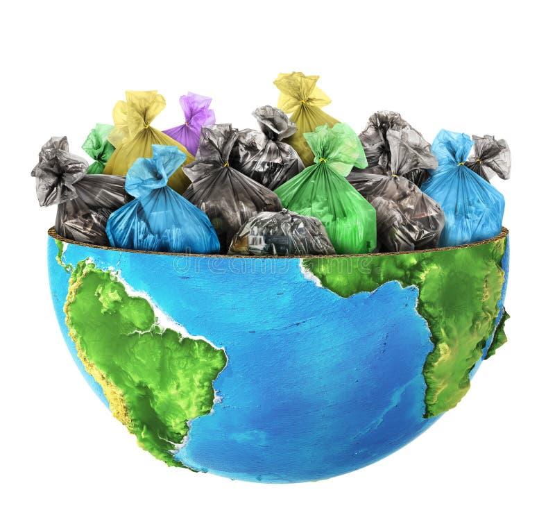 Половина планеты заполнена с gar бесплатная иллюстрация