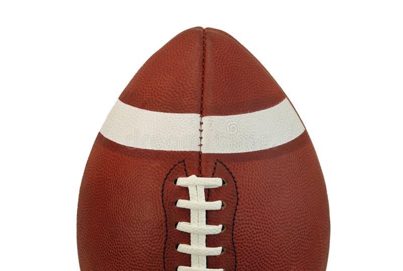 Половина подлинного американского футбольной игры шарика конца вверх стоковая фотография