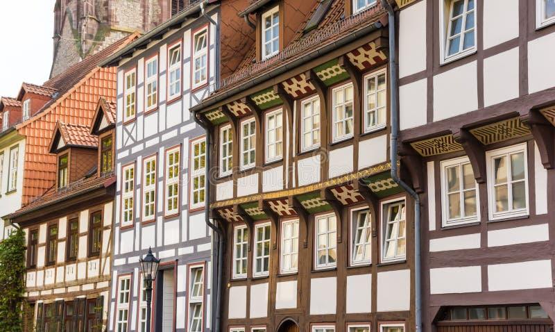 Половина timbered дома в историческом центре Gottingen стоковые фотографии rf