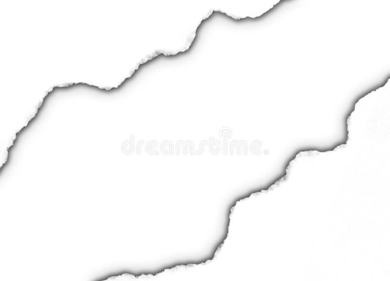 половинной бумажной белизна сорванная тенью иллюстрация штока