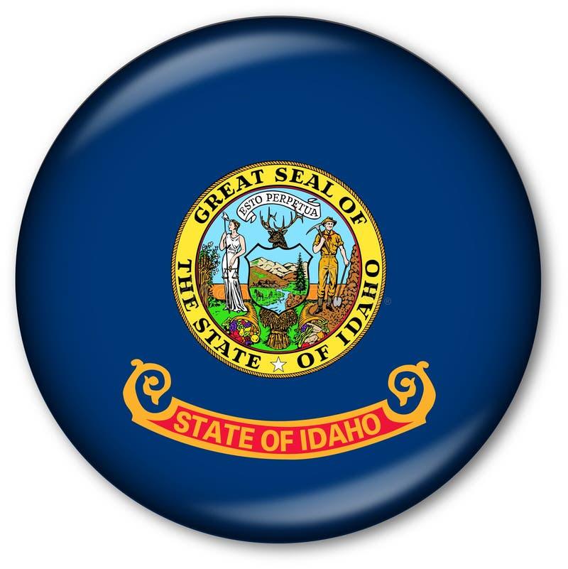 положение Айдахо флага кнопки стоковые фото