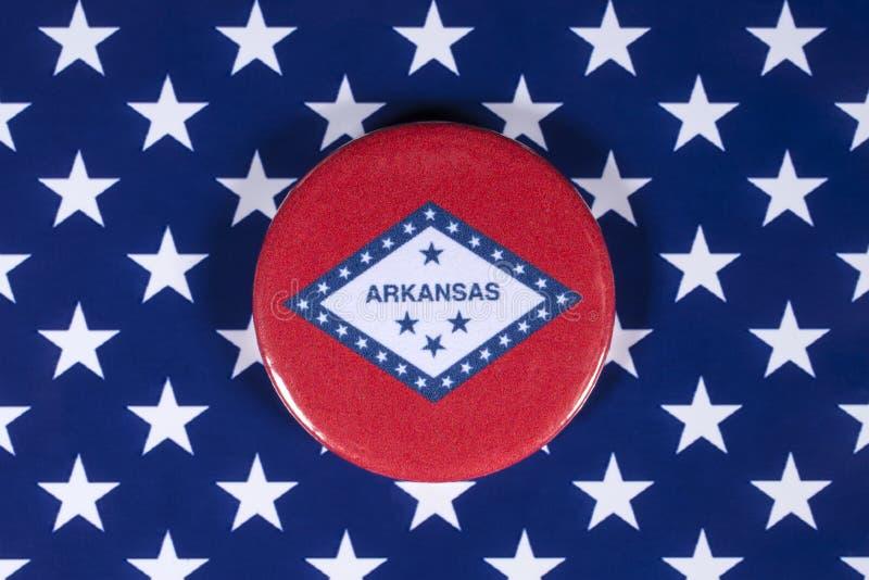 Положение Арканзаса в США стоковое изображение rf