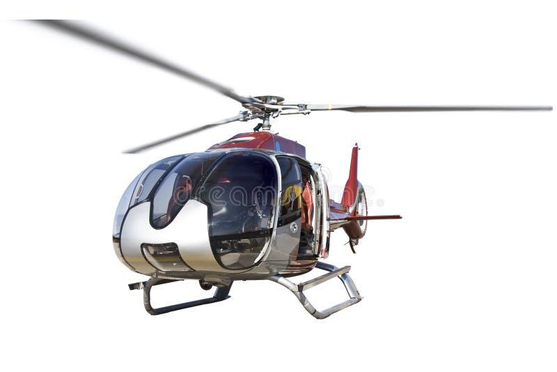 Положение вертолета, изолированное на белой предпосылке, никто стоковые фото