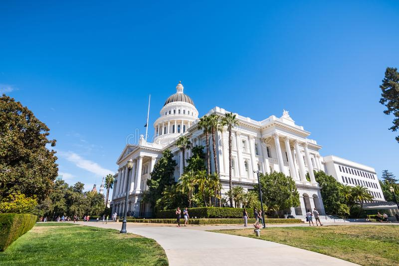 положение капитолия california здания стоковые изображения rf