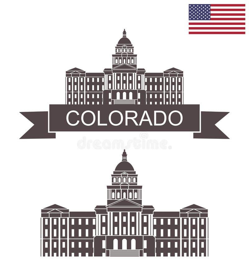 Положение Колорадо положение colorado denver капитолия здания бесплатная иллюстрация