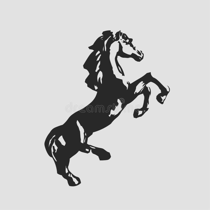 Положение лошади на своих задних ногах стоковые изображения