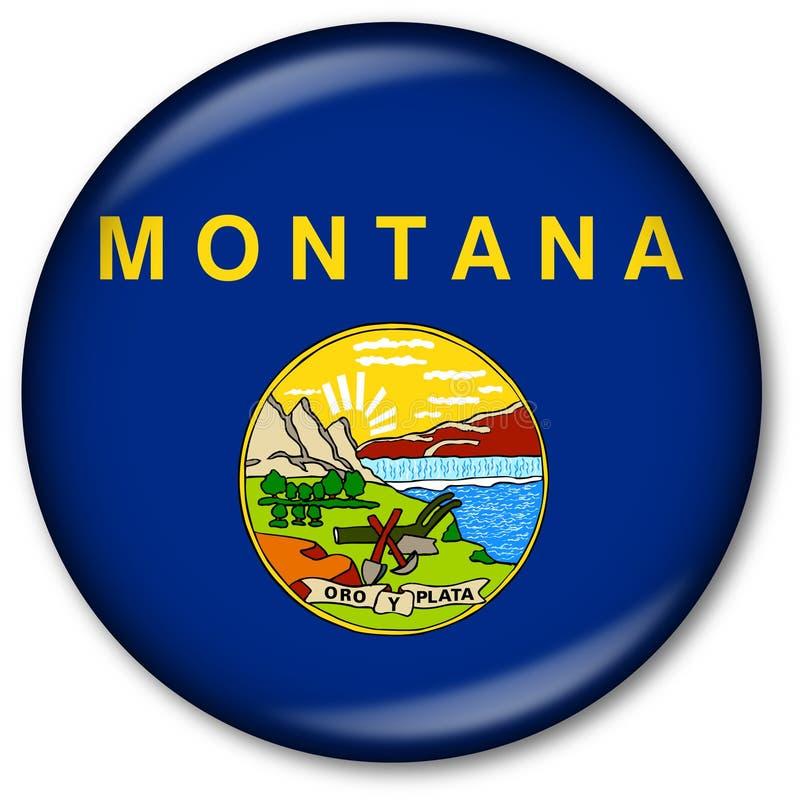 положение Монтаны флага кнопки стоковые изображения rf