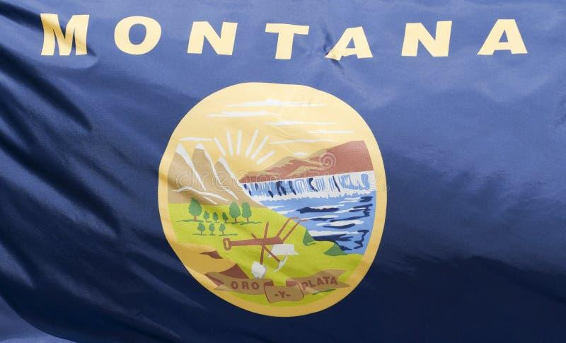 положение Монтаны флага стоковые фотографии rf
