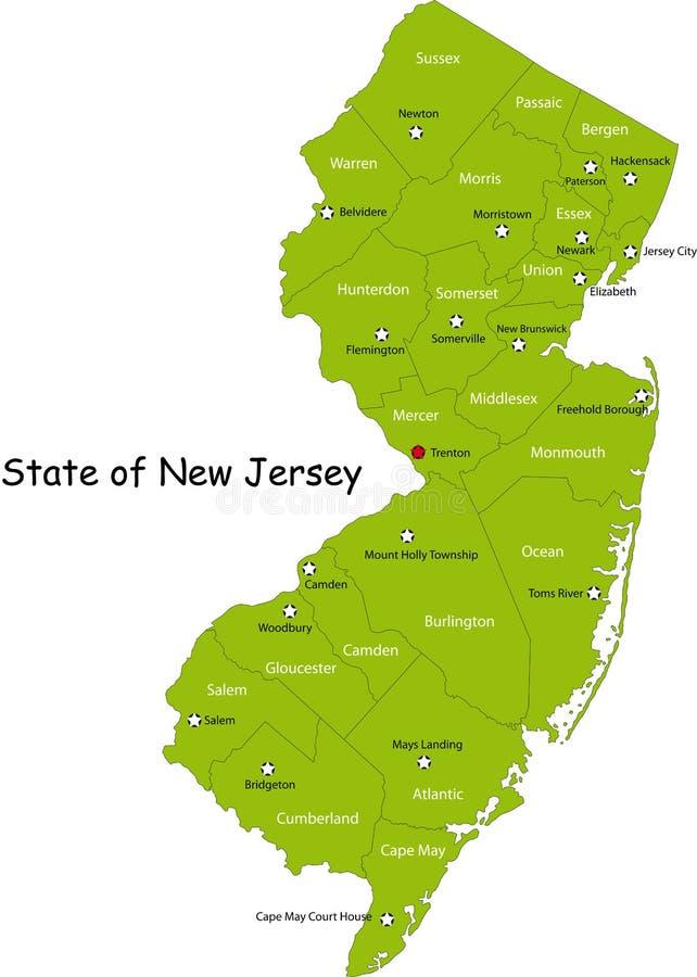 Положение Нью-Джерси иллюстрация штока