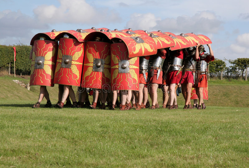 положение обороны армии римское стоковое фото rf