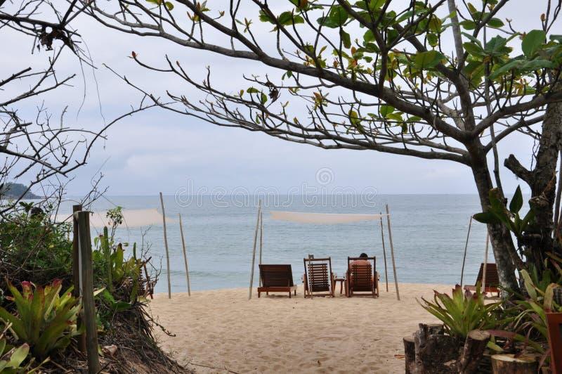 Положение пляжа Ubatuba с Сан-Паулу Бразилии стоковое фото rf