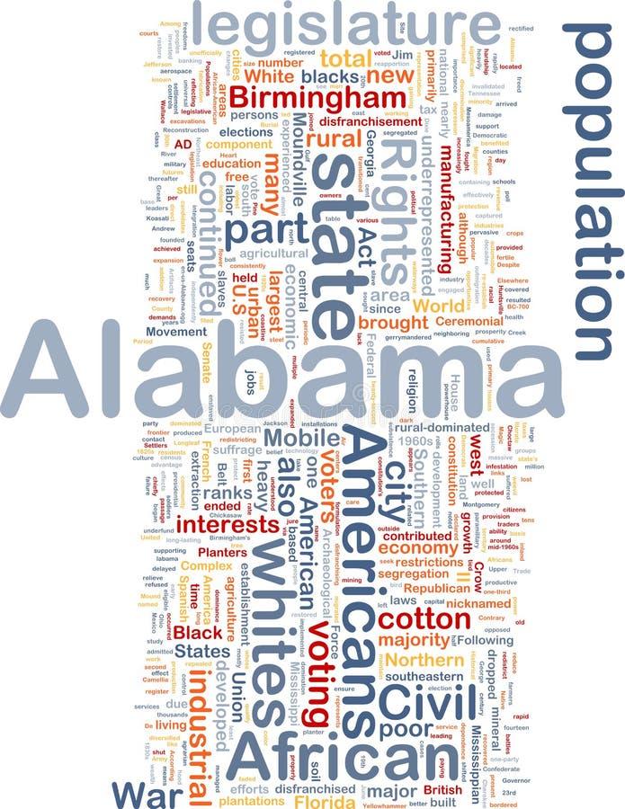 положение принципиальной схемы предпосылки Алабамы бесплатная иллюстрация