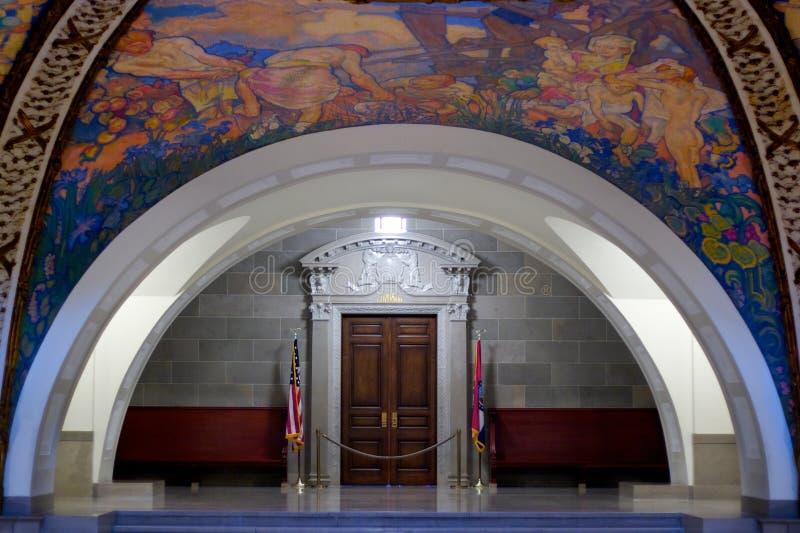 положение прописной настенной росписи Миссури rotunda стоковые фотографии rf
