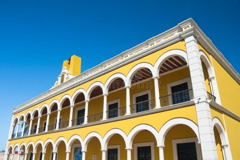 положение публики Мексики архива campeche стоковое изображение