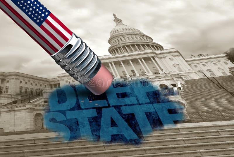 Положение Соединенных Штатов глубокое иллюстрация вектора