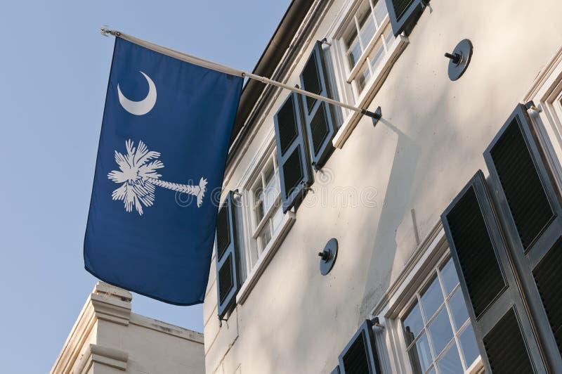 положение флага Каролины южное стоковое изображение rf