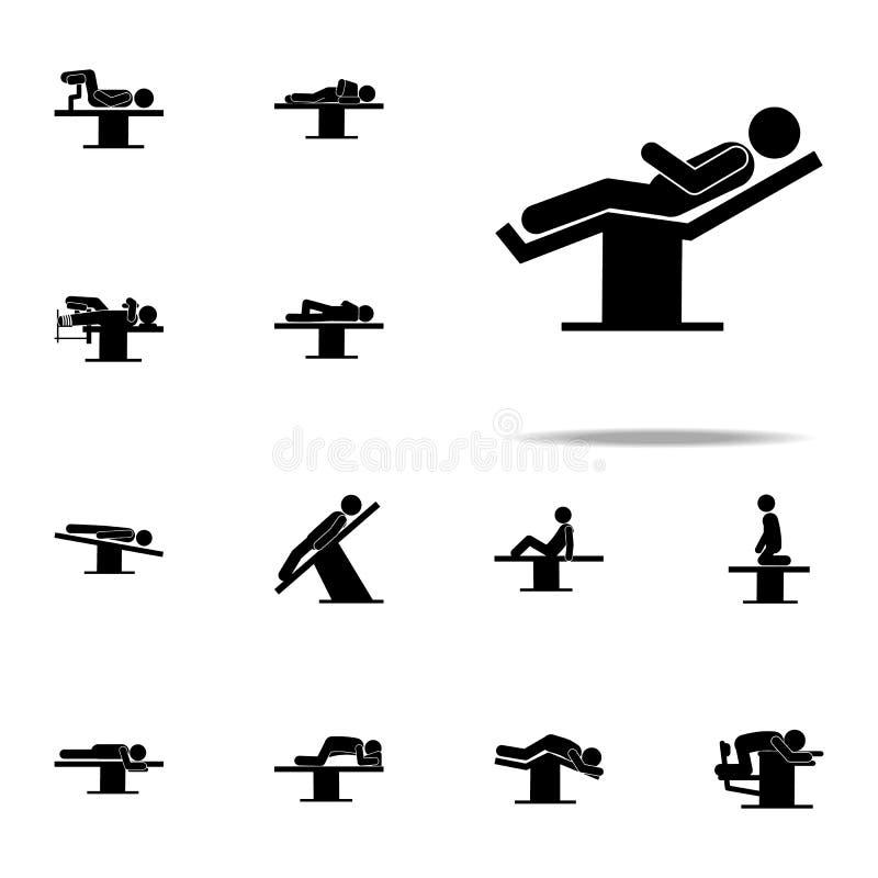 положение, человек, значок хирургии набор хирургических значков всеобщий для сети и черни иллюстрация вектора
