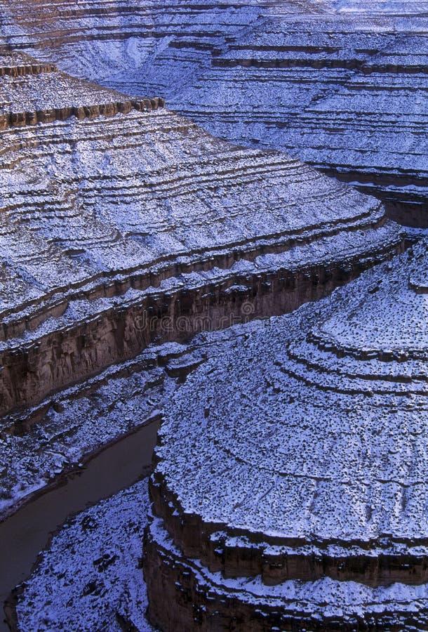 положение Юта снежка парка goosenecks стоковое фото