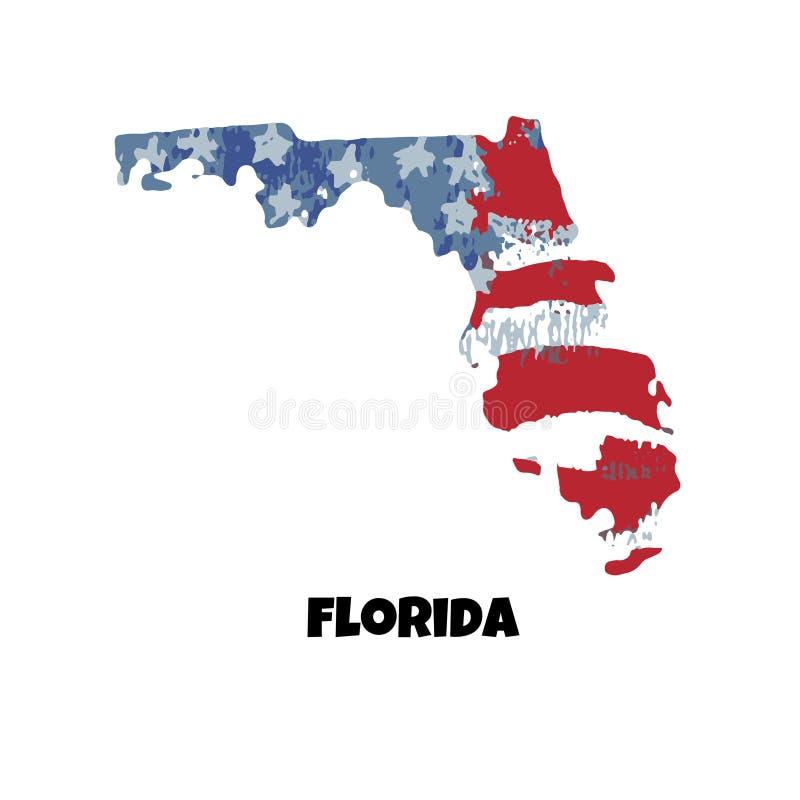 положение florida положения америки соединили также вектор иллюстрации притяжки corel иллюстрация штока