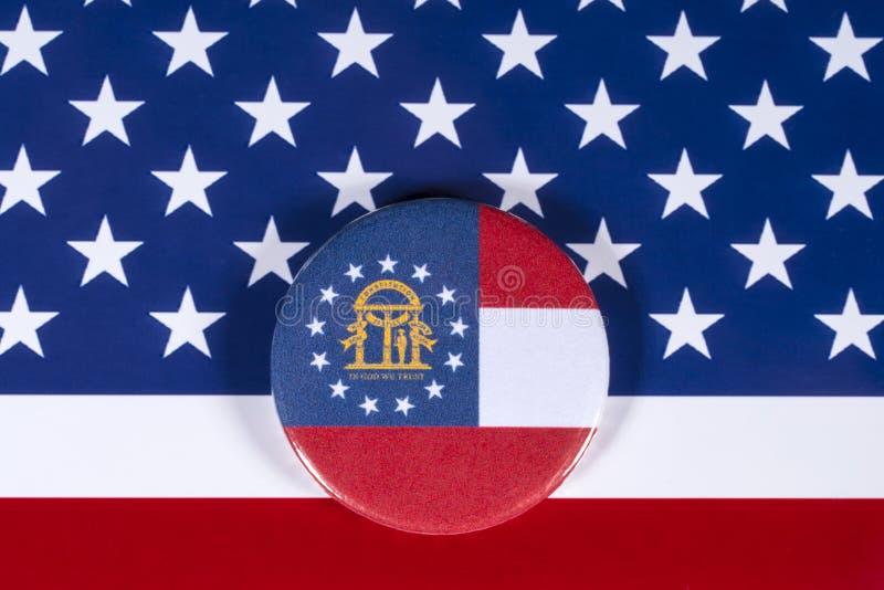 Положение Georgia в США стоковое фото rf