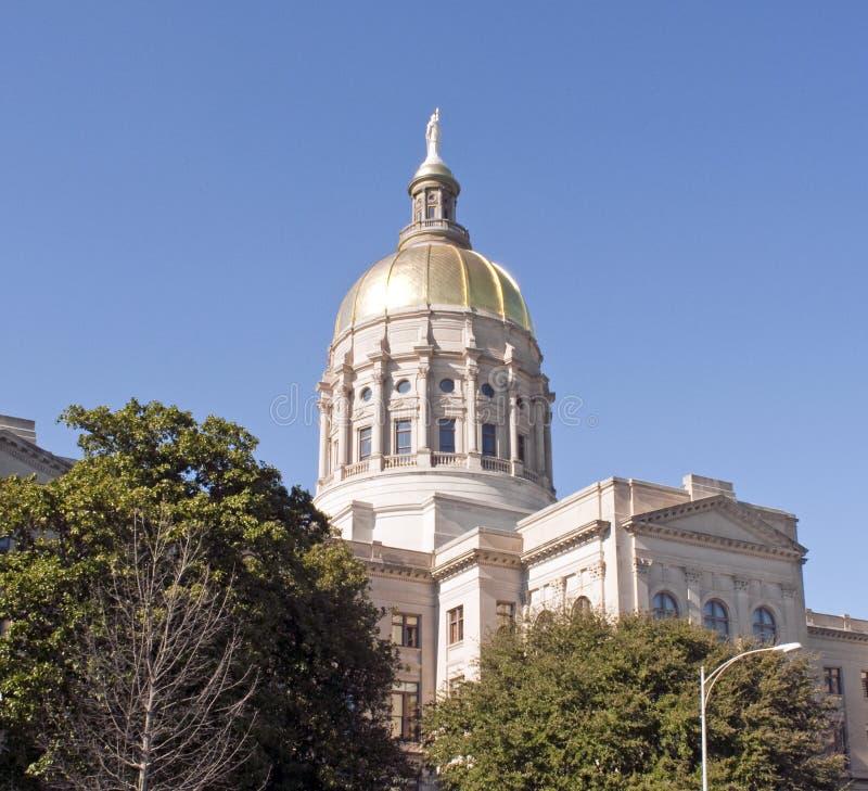 положение Georgia капитолия здания стоковое изображение rf