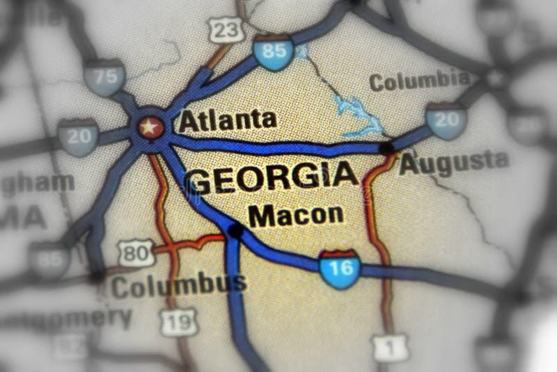 Положение Georgia - Соединенных Штатов u S стоковое фото