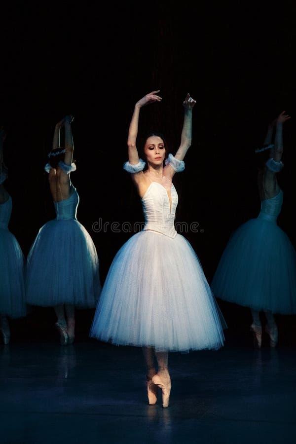 положение prague оперы giselle балета стоковая фотография