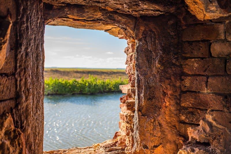 положение taylor zachary исторического парка форта стоковые фотографии rf