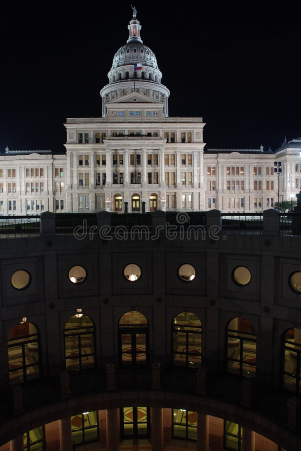 положение texas капитолия здания austin стоковые изображения
