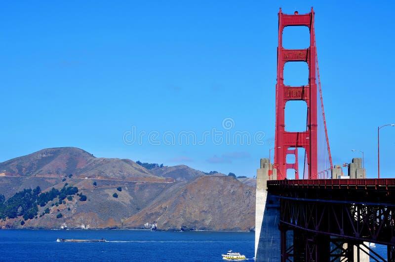 положения san строба francisco моста золотистые соединили стоковая фотография