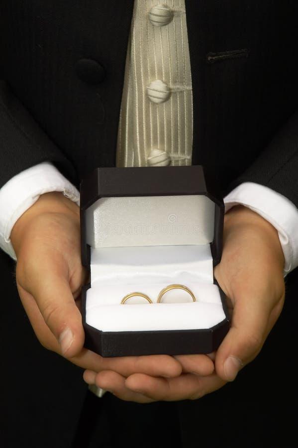 положенные в коробку кольца стоковые изображения