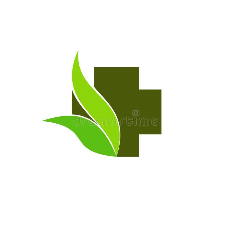 Положительная величина с логотипом лист иллюстрация штока