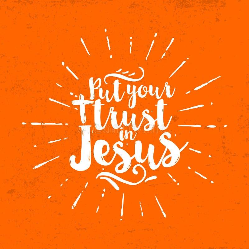Положите ваше доверие в Иисуса литерность бесплатная иллюстрация