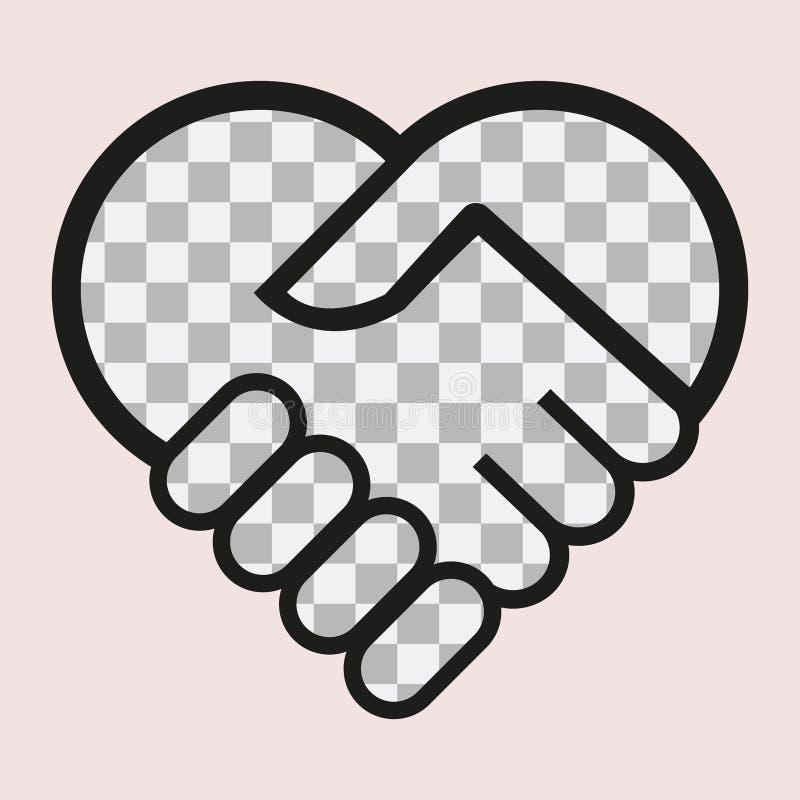 Положите ваши текст или изображение в сердце иллюстрация штока
