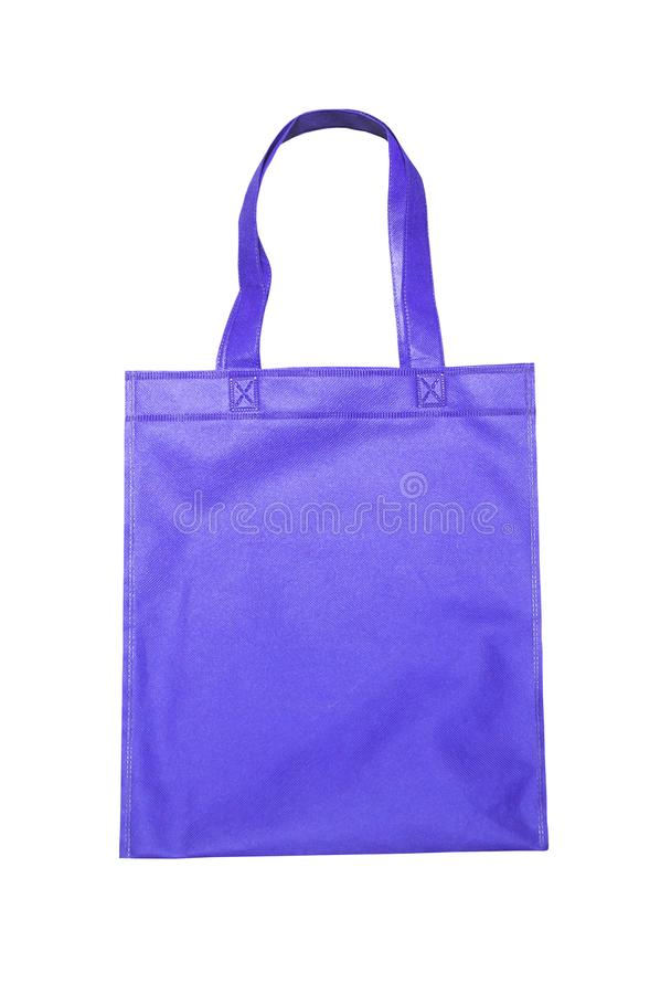положите голубую изолированную покупку в мешки стоковое изображение