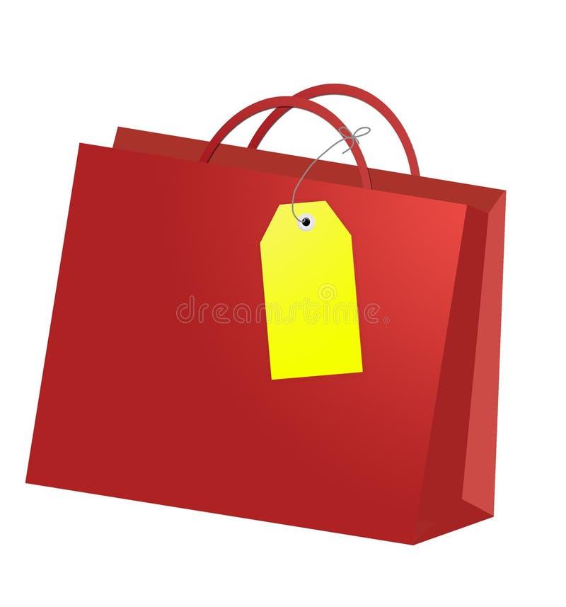 положите каждую покупку в мешки сезона иллюстрация вектора