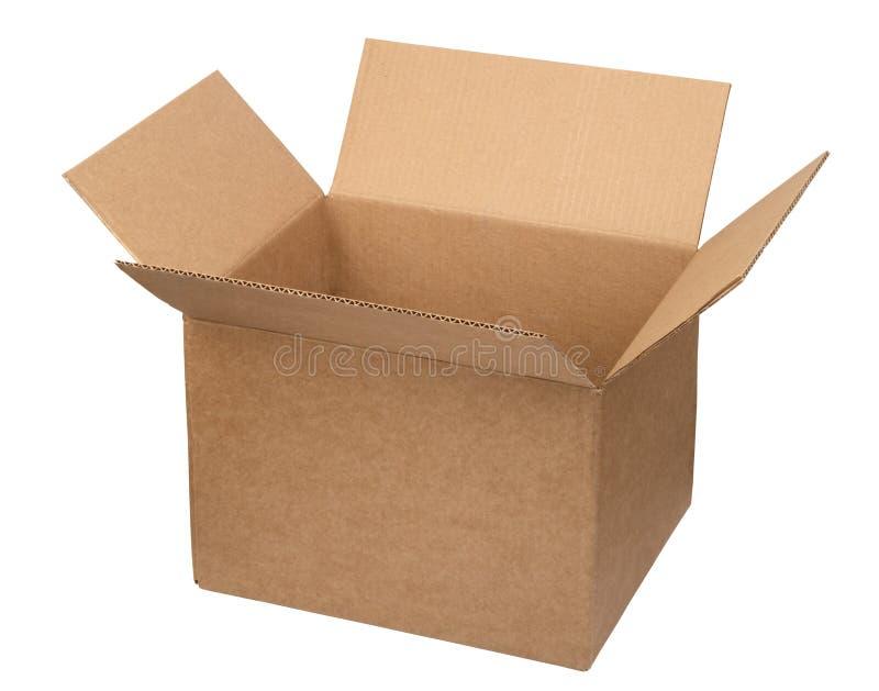 положите картон в коробку открытый стоковые изображения