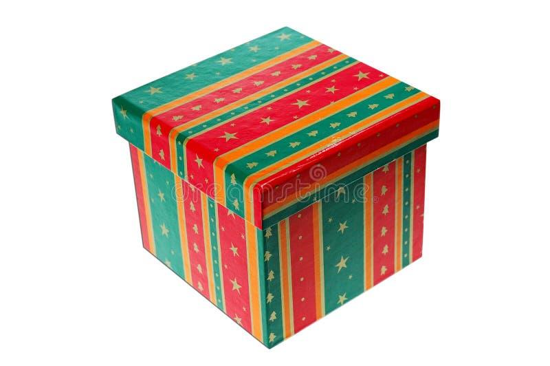 положите подарок в коробку стоковое изображение rf
