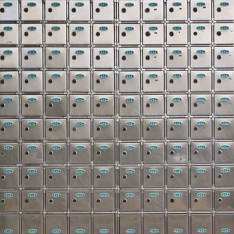 положите сейф в коробку залеми стоковые фотографии rf