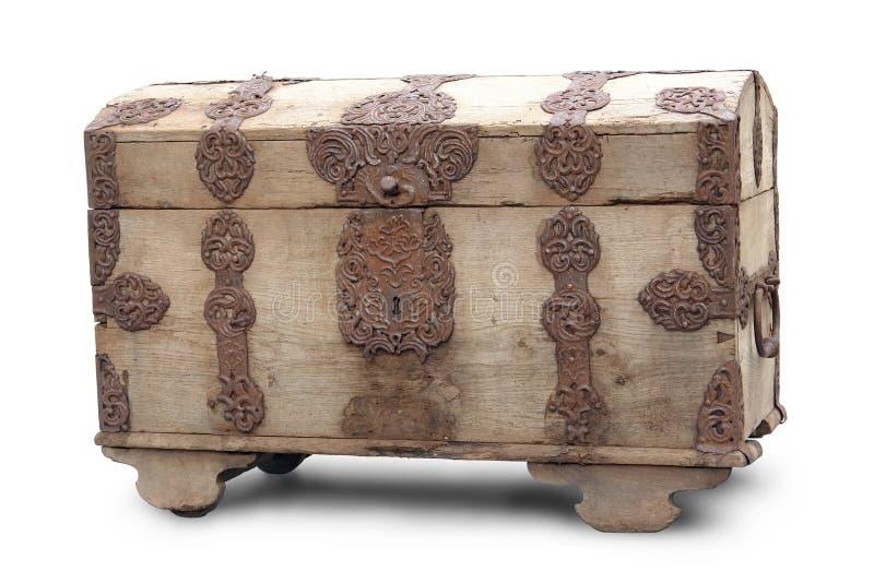 положите старое деревянное в коробку стоковое изображение rf