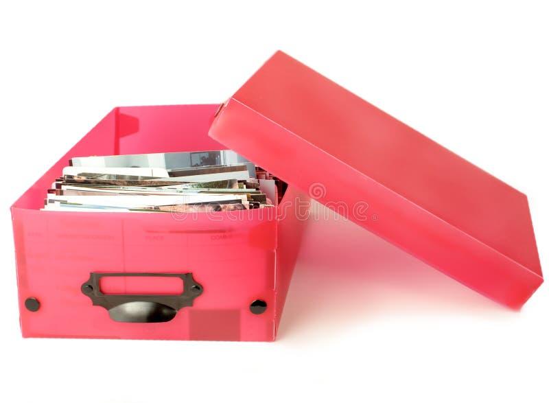положите цветастое фото в коробку стоковое изображение rf