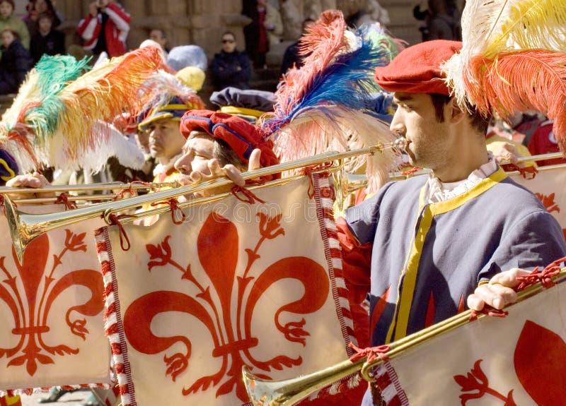 полоса воинами нот florence историческими стоковая фотография rf