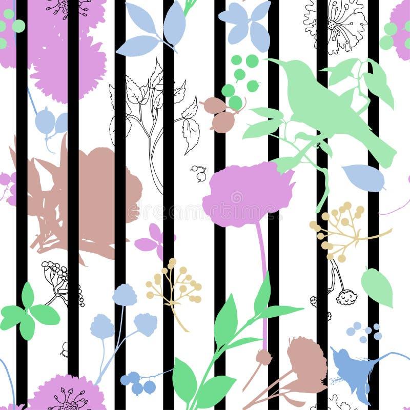 Полоса цветочного отпечатка стоковое изображение