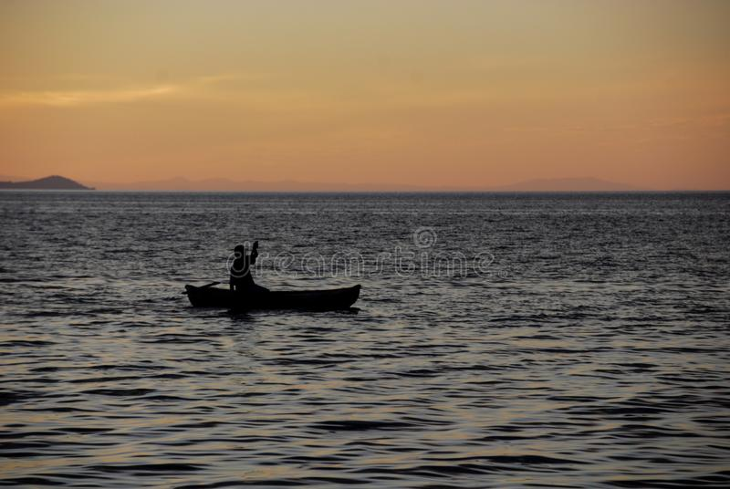 Полоскать на озере Малави стоковые фотографии rf